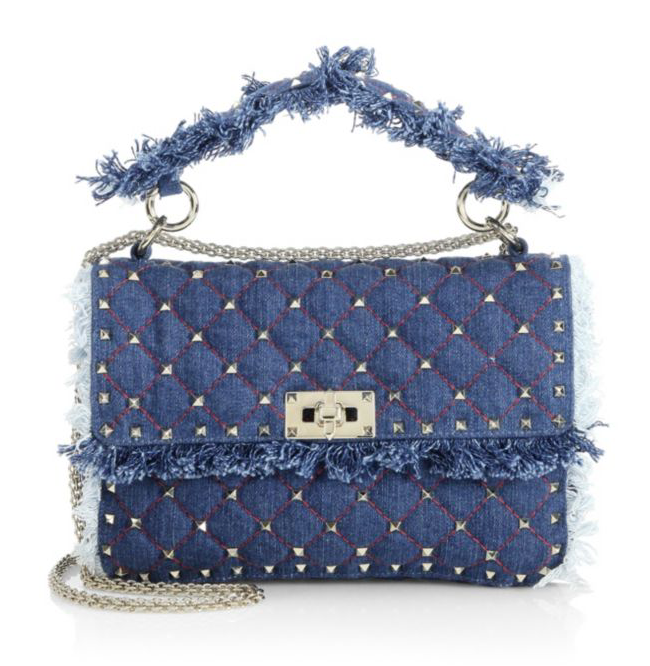 Denim Studded Handbag