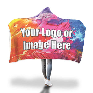 Color Paint Hooded Blanket Full color