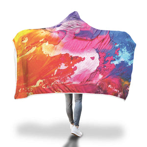Cool Splatter Full color Hooded Blanket