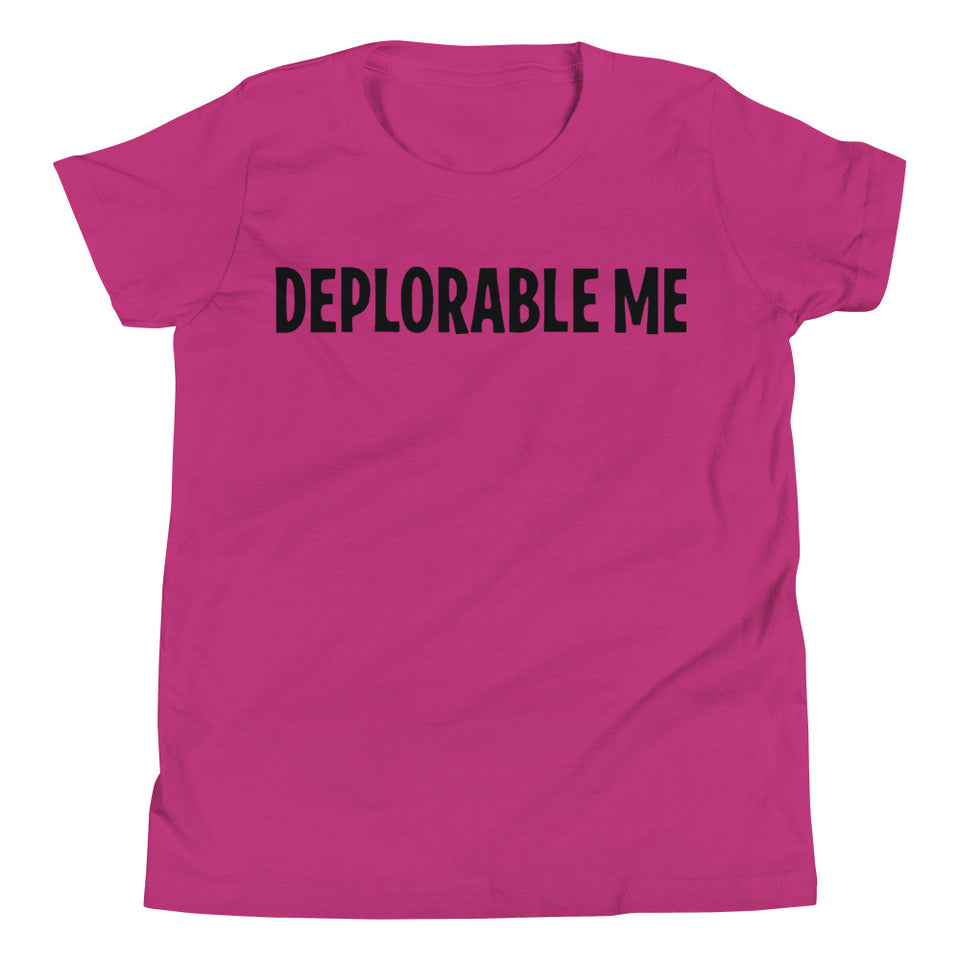 Deplorable Me Funny Youth Short Sleeve T-Shirt Trump - Tremendos Dsigns