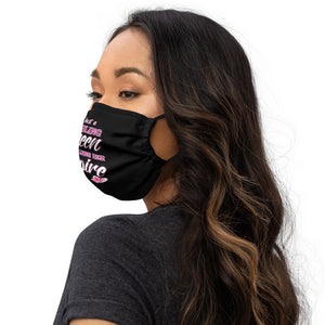 Girls boss Premium face mask Just a Bling Queen Building her Empire