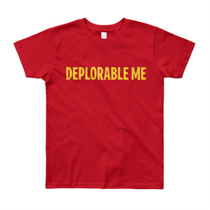 Deplorable Me Youth Short Sleeve T-Shirt Trump - Tremendos Dsigns