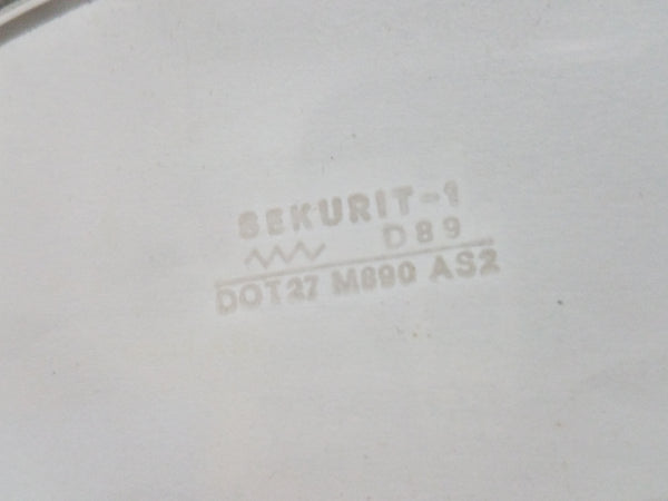 1969-1973 Volkswagen Type 3 Fastback Back Glass, Sekurit, NOS, Made in Germany