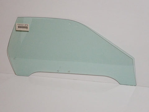 1986-1991 Mazda RX7 Coupe Passenger Door Glass, Blue Tint