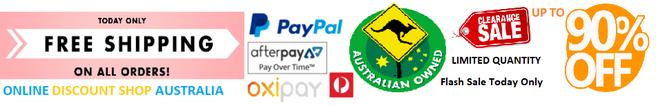 Online Discount Shop Australia offering afterpay oxipay laybuy payment plans