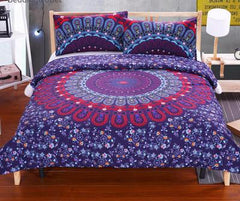 MANDALA BEDDING POSTURE MILLION ROMANTIC SOFT BEDCLOTHES PLAIN TWILL BOHO 2PCS OR 3PCS