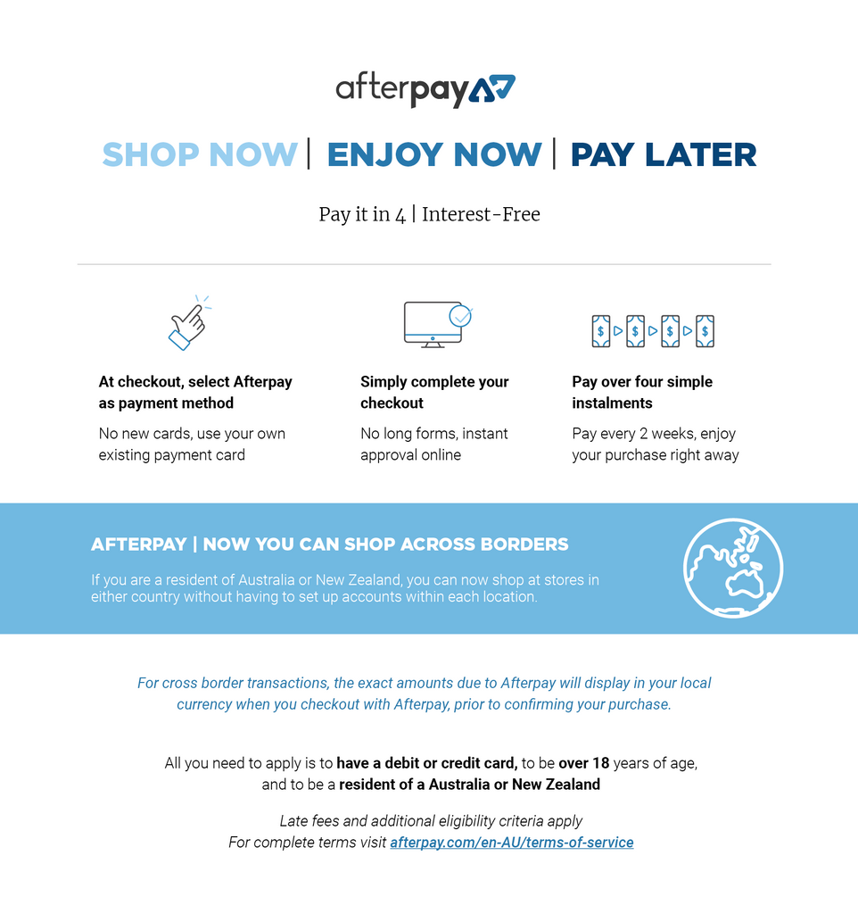 New Zealand Online Shopping Afterpay