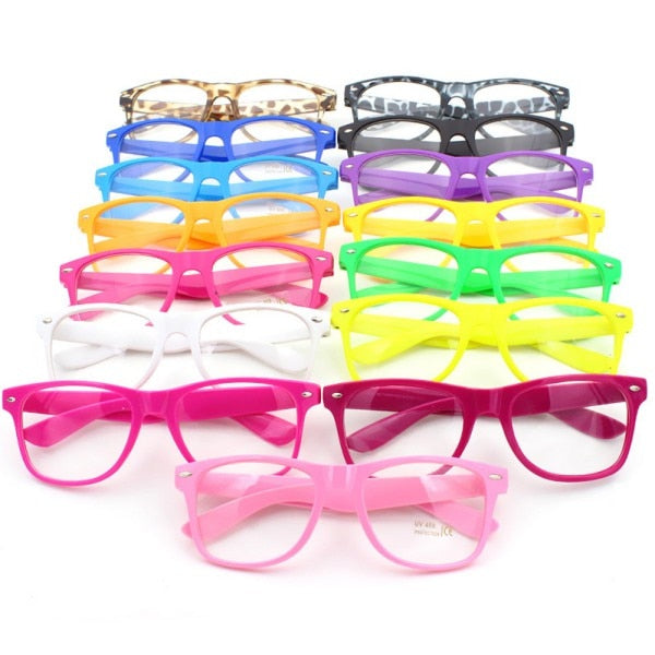 Fashion Glasses Cool Unisex Clear Lens Nerd Geek Glasses Eyewear For Men Women