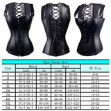 X Steampunk Steel Boned Lace up Back Body Bustier Overbust Corset Women Waist Corsets Black Plus Size S-6XL
