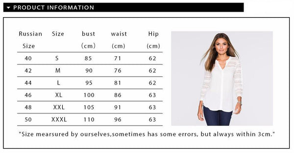 Women Clothing Pure Colour Line Casual Long Sleeve Openwork lace elegant Top T-shirt for Women