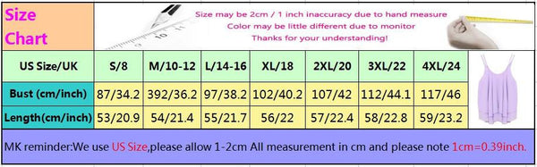 Style Tank Tops Sexy Womens Chiffon Double Layer Sleeveless Casual Solid Crop Top Plus Size S-4XL