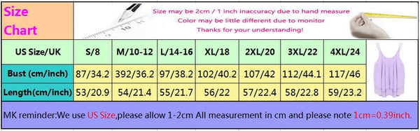 New Women Tank Tops Casual Chiffon Double Layer Sleeveless Loose Solid Crop Top Plus Size S-4XL