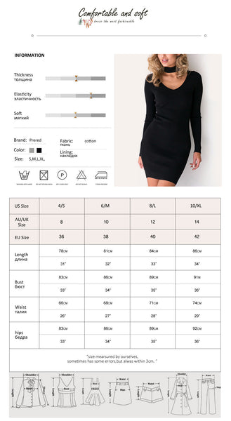 Online discount shop Australia - Brand Women Dress Halter V-Neck Sexy Long Sleeve Knitting Slim Party Dresses Women Clothing Winter Dress High Quality