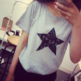 star print women blouses fashion social blouse shirts