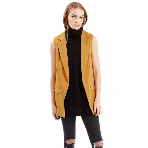 Online discount shop Australia - fashion simple solid color no button short black white wine red yellow blazer jackets