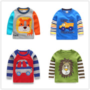 Online discount shop Australia - 1-6Y Boys T-shirt Kids Tees Baby Boy shirts cardigan blouse jacket Children sweater Long Sleeve 100% Cotton lion cars