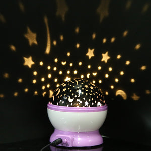Romantic Decoration Sleep Light Rotation Star Sky Projector Luminous Lamp for Kids Halloween Christmas Birthday Gift