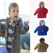 Online discount shop Australia - New Baby Boys Children outerwear Coat Kids Jackets for Boy Girls Jacket Warm Hooded Children Clothing gray Khaki red