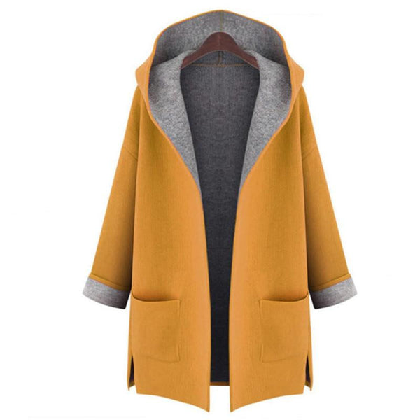 Woman's Dust Coat Ladies Cardigan all-match Fashion  Coat Female trench coat woollen