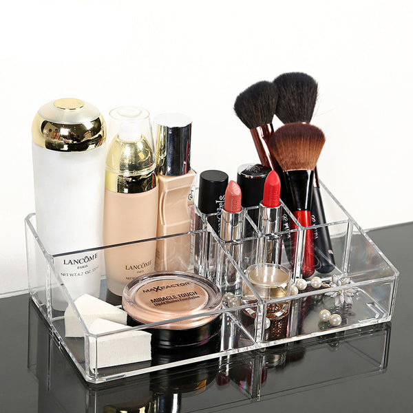 Online discount shop Australia - Crystal Acrylic Cosmetic Organizer Clear Makeup Jewelry Cosmetic Storage Display Box Acrylic Case Stand Rack Holder Organizer