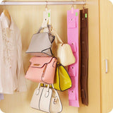 Online discount shop Australia - 4 Hooks Handbag Purse Bags Holder Shelf Hanger Hanging Rack Storage Organizer