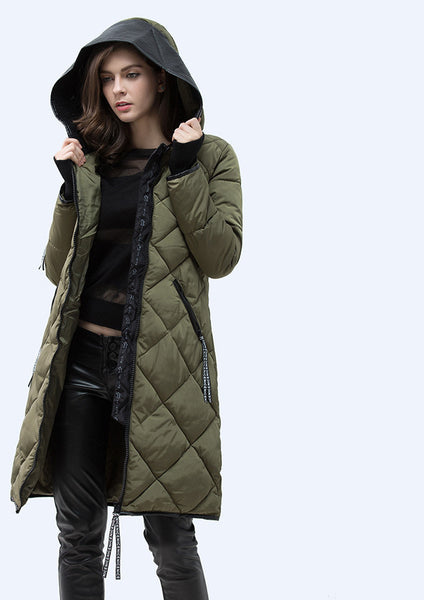 Online discount shop Australia - Jacket Women Slim PU Leather Hooded Thick Down Cotton Coat Casual Warm Parka Plus Size XXXL WY14