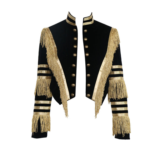Online discount shop Australia - Missord long sleeve tassel velvet coat FT4685