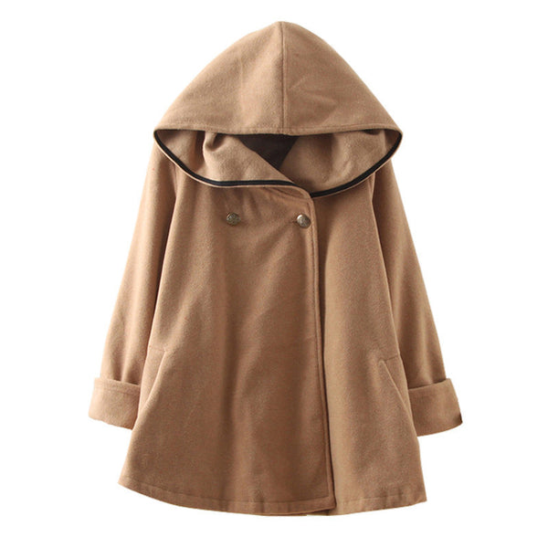 Online discount shop Australia - Fashion Women Wool Coat Style Coat  and  Female Hooded Jacket Casual Trench