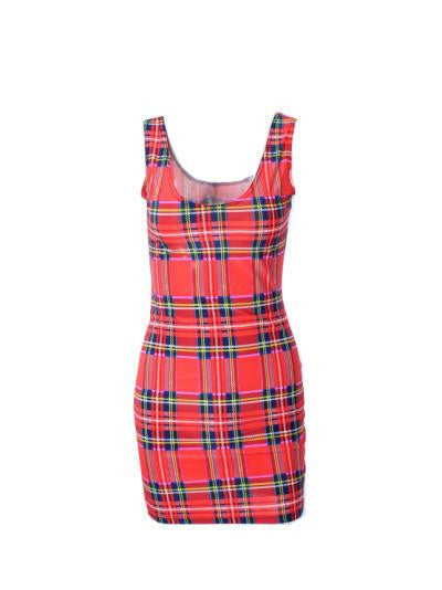 Women casual dress adventure time Tartan Red Neon simpsons print women dress bodycon punk dress