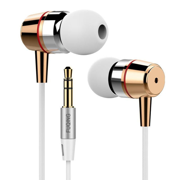 Super bass earphones Metal-Ear Mobile Computer MP3 Universal 3.5MM clear voice amazing sound earphone
