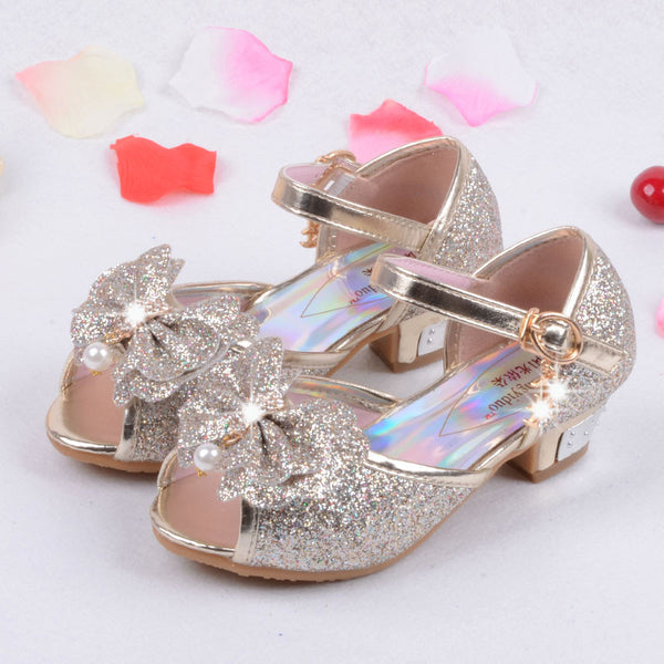 Online discount shop Australia - Children Princess Sandals Kids Girls Wedding Shoes High Heels Dress Shoes Party Shoes For Girls Pink Blue Gold