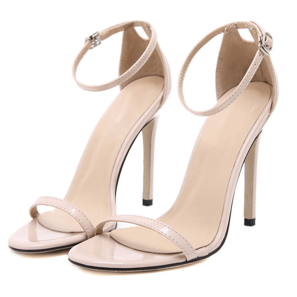 Online discount shop Australia - Fashion Classics Brand name ZA R Peep toe Buckle trap High Heels Sandals Shoes Woman Black White Red Wedding Shoes Factory US10