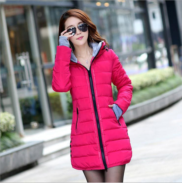 Slim Down Jacket Coat Cotton Down Jacket Sections Ladies Padded Jacket