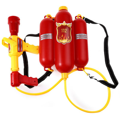 Online discount shop Australia - Kids Cute Outdoor Super Soaker Blaster Fire Backpack Pressure Squirt Pool Toy Children Beach Gaming Water Gun