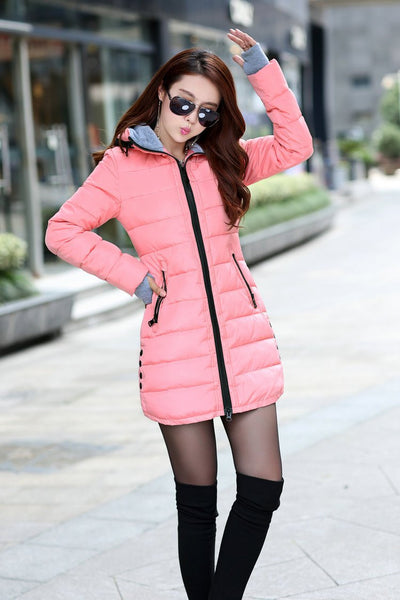 Wadded Jacket Female New Women's  Jacket Down Cotton Jacket Slim Parkas Ladies Coat Plus Size M-XXXL B020