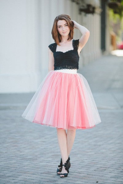 "Online discount shop Australia - Fashion 21"" Long Two Tone Mini Women Tulle Skirts Princess Adult Tutu Ball Gown"