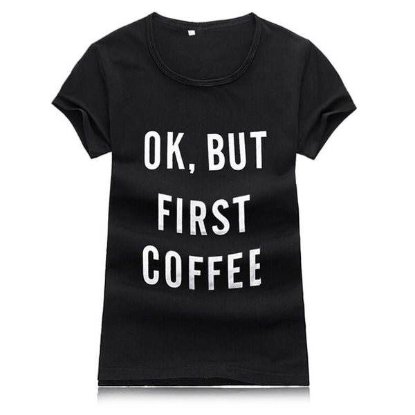 Women tshirt Street Fashion Slim  Basic t shirt Women New Letter Print Casual Slim Women TopsPlus Size