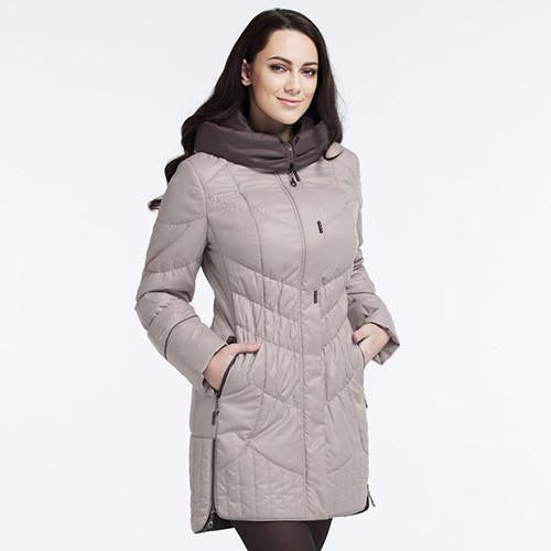 Women's jacket Casual Fashion Women Parka High-Quality Female Hooded Coat Brand Parka Plus Size 5XL