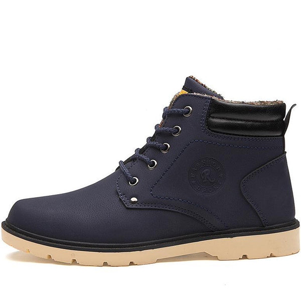 Online discount shop Australia - Keep Warm Men Boots High Quality pu Leather Casual Boots Working Fahsion Boots Essential Shoes