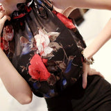New Fashion Clothing Floral Chiffon Halter Sexy Women Tops Loose Shirt Wild Casual Womens HE008