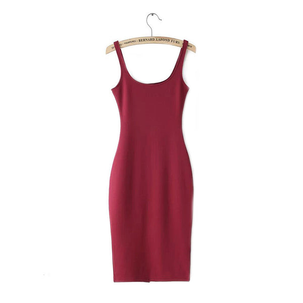Online discount shop Australia - 7 Colour Women Simple Casual Dress Simple Brand Designer Sleeveless American Apparel Summer Style dresses Tango Vestidos Z1066
