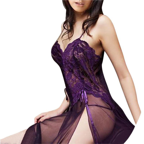 Online discount shop Australia - Embroidery Women Underwear plus size lace sexy panties Sexy Lingerie Set Lady Print Perspective Lure Pajamas #LSN
