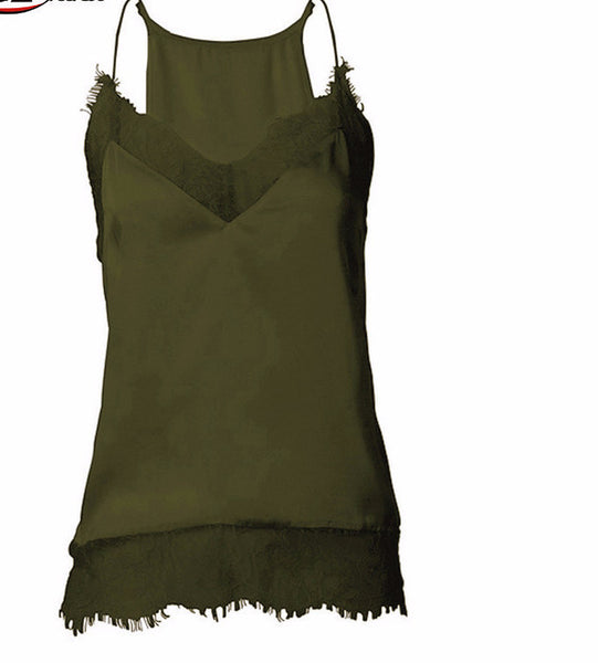 New girl women Sexy lace tank top Sling Camo Vest Slim