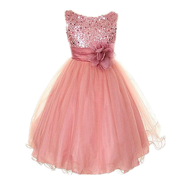 3-15Y Girls Dresses Children Ball Gown Princess Wedding Party Dress ...