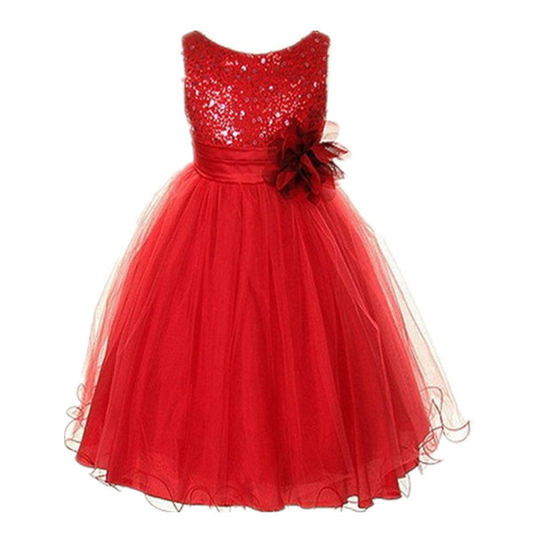 Online discount shop Australia - 3-15Y Girls Dresses Children Ball Gown Princess Wedding Party Dress Girls Party Clothes High Quality