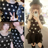 Online discount shop Australia - Chiffon T-Shirts Ladies Loose Short Sleeve Shirts Striped Heart Lip Tops Batwing Sleeve Sexy