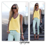 Online discount shop Australia - Fashion Spagetti Strap Vest Tank Top Sexy Womens Chiffon Sleeveless t-shirts Plus Size Camis T Shirt LJ3943E