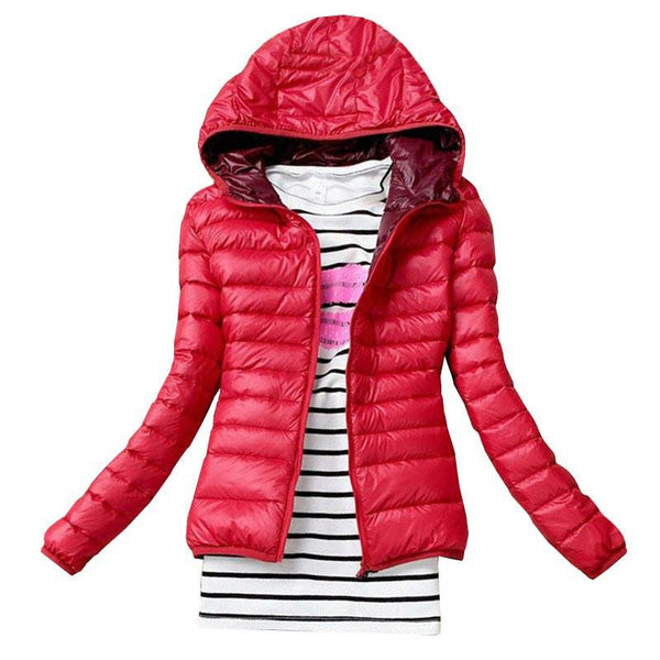 Women Basic Jacket Coat Female Slim Hooded Brand Cotton Coats Casual Black Jackets