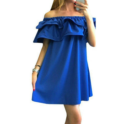 Online discount shop Australia - Fashion summer dresses off shoulder sexy women dress summer style new arrival beach dress casual dresses