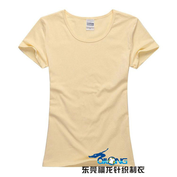 Online discount shop Australia - Brand New fashion women brand tee tops Short Sleeve Cotton tops for women clothing solid O-neck t shirt ,